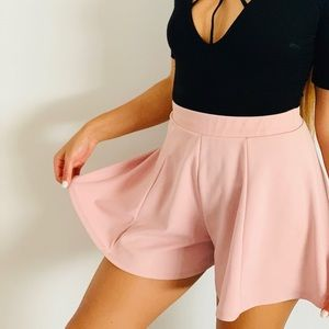 Baby Pink Bell Shorts